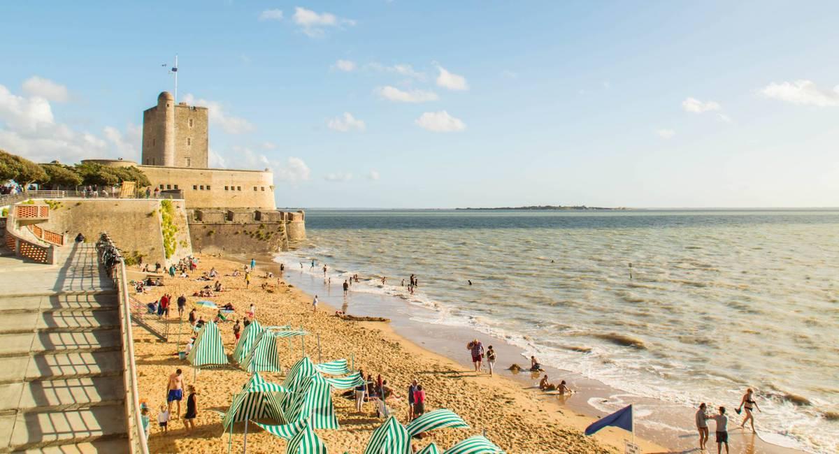 La plage centrale de Fouras