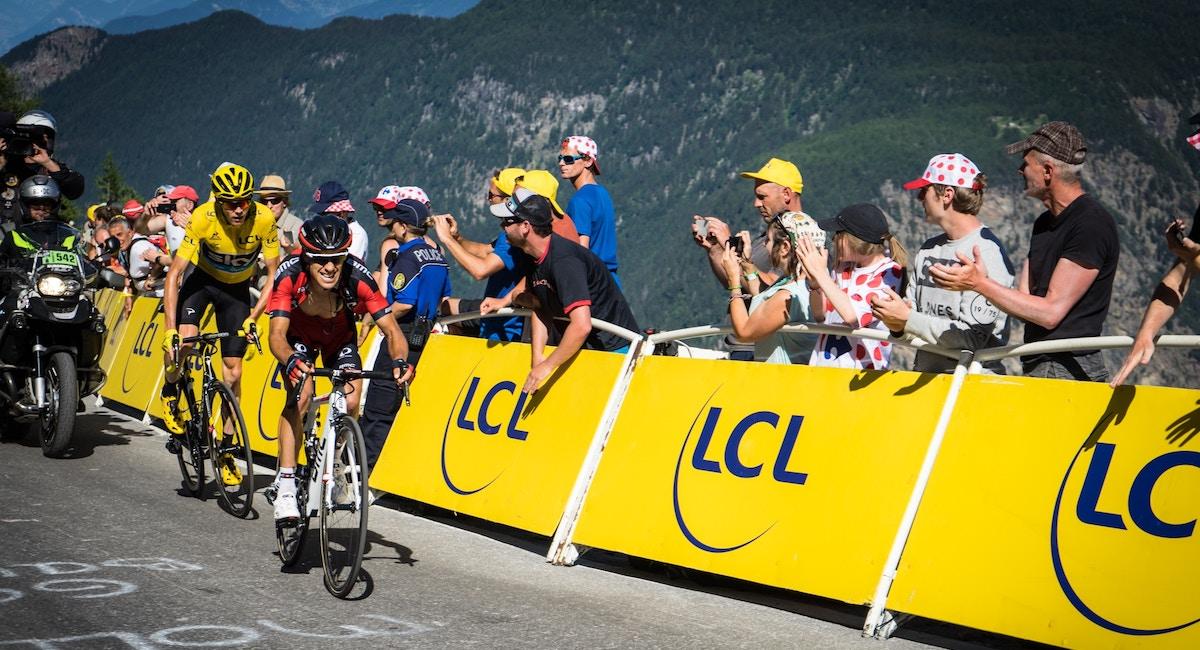 Une étape de montagne du Tour de France